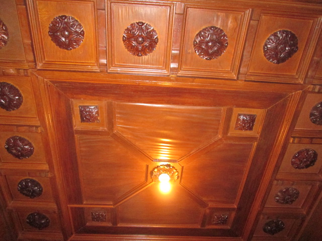 The ceiling at the foyer